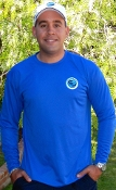 Men's Cooling Performance Long Sleeve Crew - Royal